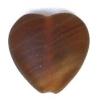 Glass Pressed Beads 10x10mm Heart Dark Brown Matt
